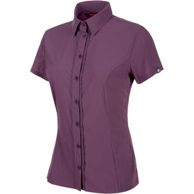Mammut Trovat Light Shortsleeve Shirt Women purple